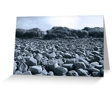 rocky beach in Kerry blue Greeting Card