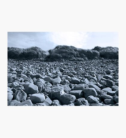 rocky beach in Kerry blue Photographic Print