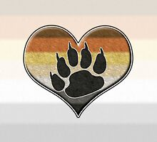 Bear Pride Heart with Paw Symbol by LiveLoudGraphic