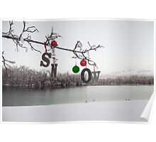 SNOW on the Tree Poster