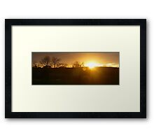 Sunset in Aberdeenshire Framed Print