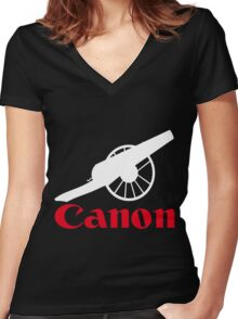 The power of canon Women's Fitted V-Neck T-Shirt