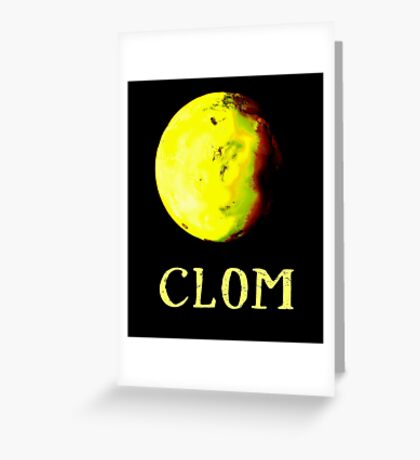 Doctor Who - Clom Greeting Card
