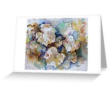 Water Colour Negative Painting Greeting Card