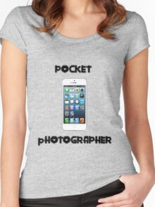 Pocket Photographer Women's Fitted Scoop T-Shirt
