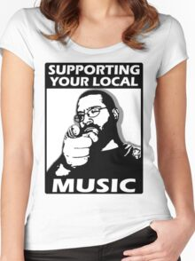 S.Y.L.M. Supporting Your Local Music Women's Fitted Scoop T-Shirt