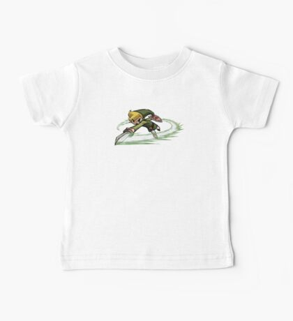 Link fighting with sword Baby Tee