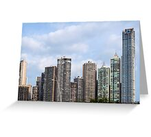 Panama City skyline, Panama. Greeting Card
