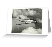 Canadair Limited F-86 Greeting Card