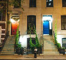 Red Door and Blue Door - New York City by Vivienne Gucwa