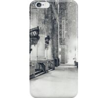 Winter Night - Snow Falls in the Big Apple - New York City iPhone Case/Skin