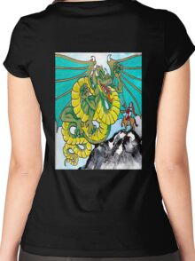 final fight (vertical) back Women's Fitted Scoop T-Shirt