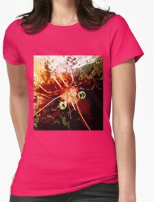 Red Night Shrimp Womens Fitted T-Shirt