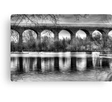 Viaduct at Reddish Vale Country Park Canvas Print