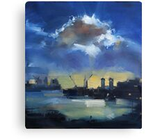 Cloud over Docklands ~ oil painting Canvas Print