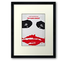 No245 My The Dark Knight minimal movie poster Framed Print