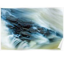 Water chute in spring Poster