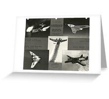 USAF Northrop Planes Greeting Card