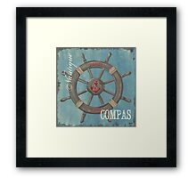 Nautical Helm Framed Print