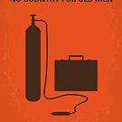 No253 My No Country for Old men minimal movie poster by Chungkong