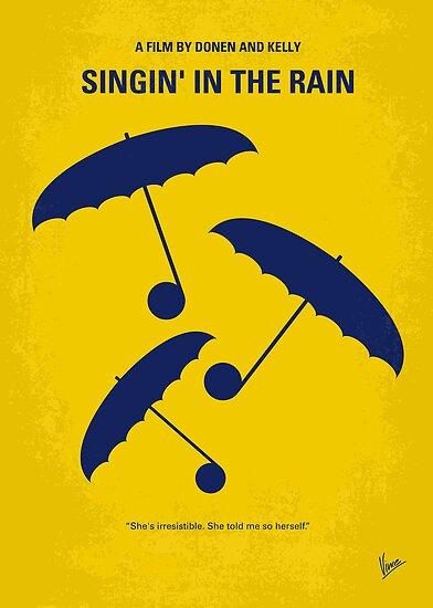 No254 My SINGIN IN THE RAIN minimal movie poster by Chungkong