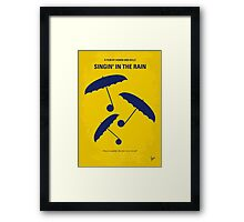 No254 My SINGIN IN THE RAIN minimal movie poster Framed Print