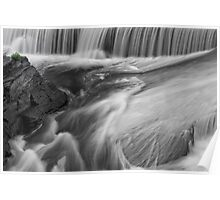 Water falls black and white Poster