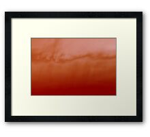sunset experiment - 2 Framed Print