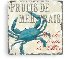 Nautical Fresh Shellfish 2 Canvas Print