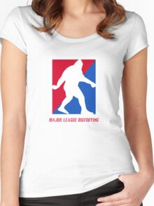 MLB Major League Bigfooting  Women's Fitted Scoop T-Shirt