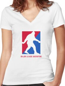 MLB Major League Bigfooting  Women's Fitted V-Neck T-Shirt
