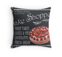 Bake Shoppe Throw Pillow