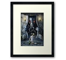 Cthulhu Entering our World: Wishful Thinking Framed Print