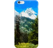 Wyoming Grand Tetons Abstract Impressionism iPhone Case/Skin