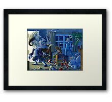Hush, here comes the Boogieman Framed Print
