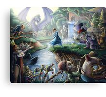 Alice In Wonderland : Controlled Chaos  Canvas Print