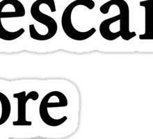 Miscellaneous - putting Descartes before D'Orsay - light Sticker