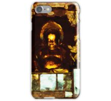 Golden Buddha Kyoto Japan Abstract Impressionism iPhone Case/Skin