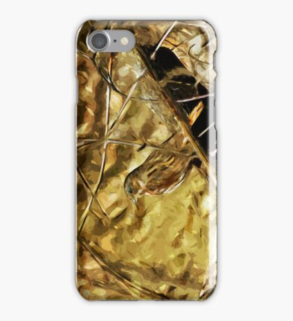 Fox Sparrow Songbird Abstract Impressionism iPhone Case/Skin
