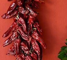 dried peppers by Pablo Romero