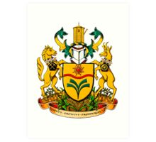 Town of Taber Coat of Arms Art Print