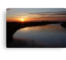 Norfolk Sunset on the Broads Canvas Print