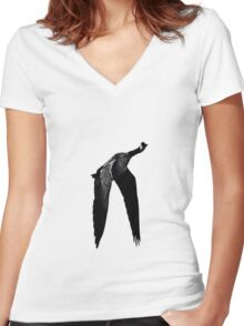 B&W Canada Goose Women's Fitted V-Neck T-Shirt