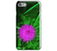 Flodmans Thistle Abstract Impressionism iPhone Case/Skin