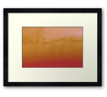 sunset experiment - 3 Framed Print