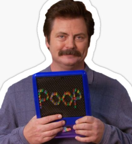 Ron Swanson - Poop Sticker