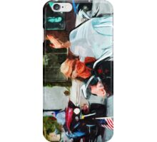 Riding an American Hog Abstract Impressionism iPhone Case/Skin