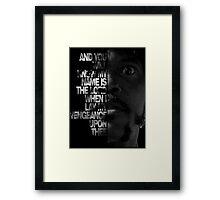 Samuel L Jackson Monologue Framed Print