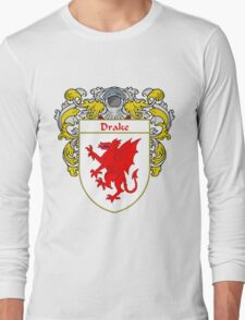 Drake Coat of Arms/Family Crest Long Sleeve T-Shirt