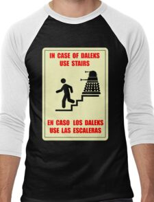 In Case of Daleks Use Stairs Men's Baseball ¾ T-Shirt